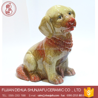Lovely Ceramic Dogs Statue For Sale