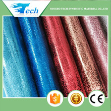 SOFT HAND FEELING NEW PU METALLIC LEATHER FOR SHOES AND BAGS