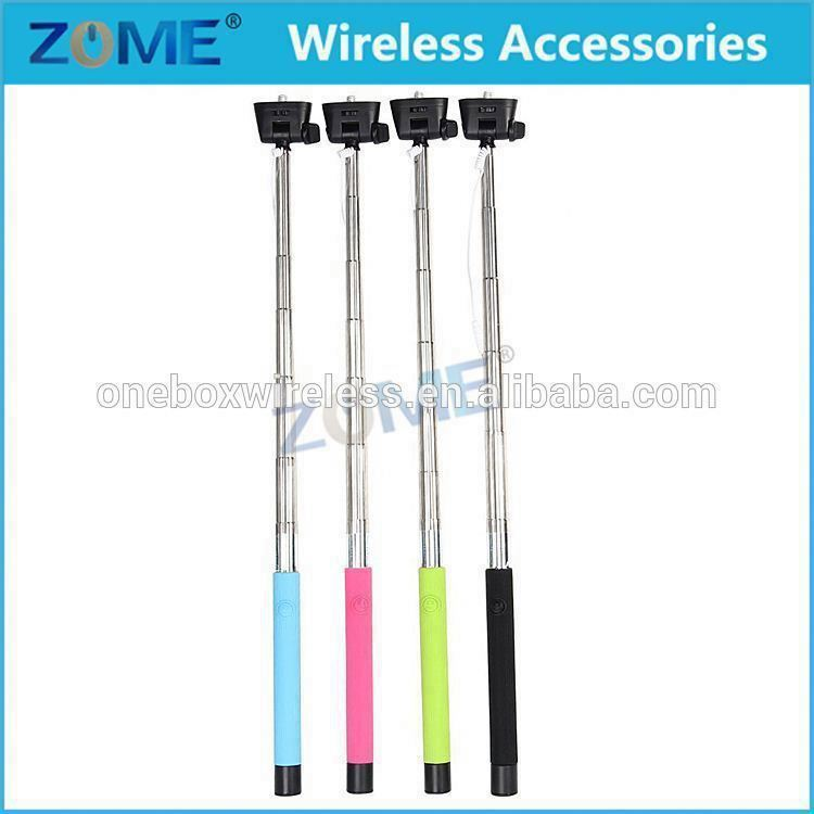 Bulk Buy From China Selfie Stick For Galaxy S2 Extendable Wired Handheld Telescoping Monopod Built-In Shutter