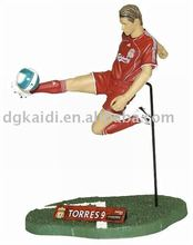 Best selling OEM 3D Plastic PVC Football Player Action Figure toy