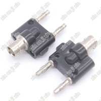 BNC Female to Banana Male Jack Double Dual Plug RF Adapter BNC Connectors Audio Speaker Cable 4mm Dual Plug Black