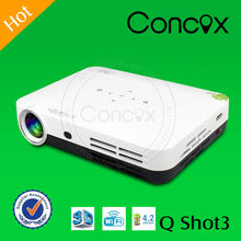 3D-home theater projector play media directly from usb/phone Concox Q shot 3