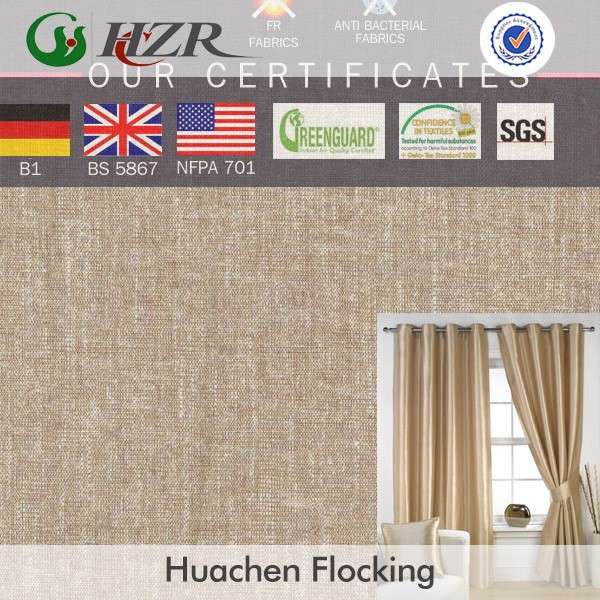 2015 new arrived In-stock polyester taffeta print design hotel curtain fabric