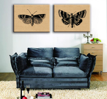 Hot sale sketch butterfly canvas wall painting designs for living room