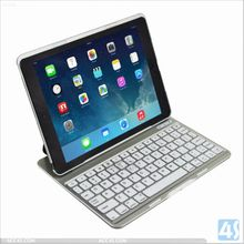 bluetooth keyboard with touchpad for ipad/iphone bluetooth keyboard case for ipad air usa wholesales P-IPD5CASE080