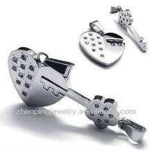 2pcs His & Hers Couples Gift Key to My Heart Stainless Steel Pendant Love Necklace Set for Lover Valentine