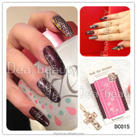 Korean fashional nail foil sticker lace nail art sticker girls nail art design