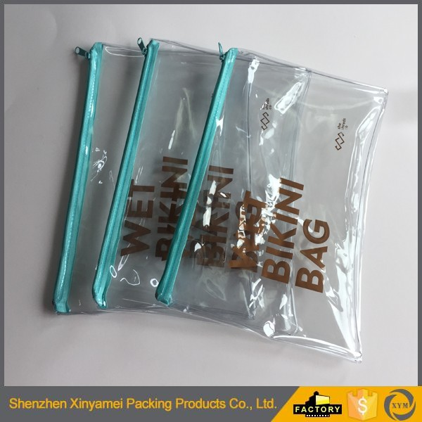 A4 clear zipper file holder bag pvc documents bag