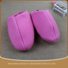 Keep warm winter warm indoor cotton slippers, comfortable pretty pink skidproof home slippers for women