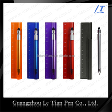 3 in 1promotional ballpoint pens with ruler and touch