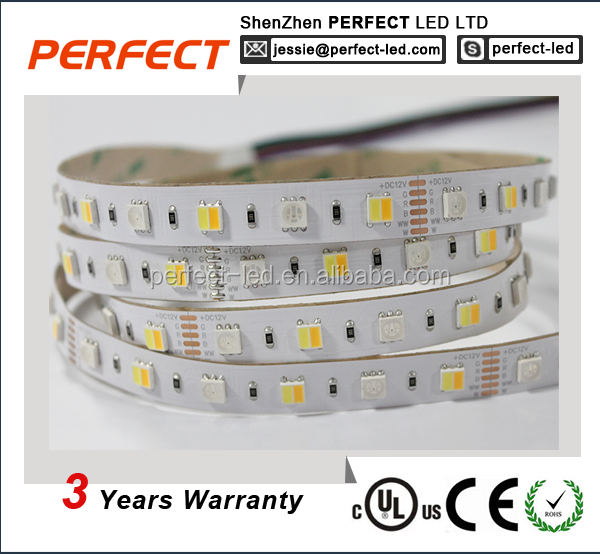 supper brightness PERFECT led strip light 5050 60LEDS RGB+ double color CCT 12v led light