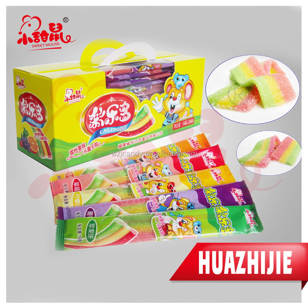 258201610 Rainbow Sweets Gummy Jelly Soft Candy