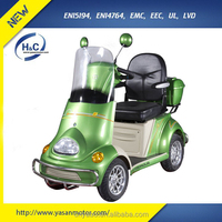 48V/650W luxury 4 wheel motorbike heavy duty electric scooter with cannopy & roof for sale
