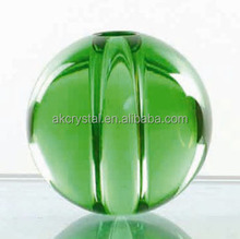 Decoration parts colorful crystal ball with hole for lamp or stairs