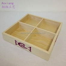 Factory direct sale a complete set Four squares of Wooden Candy Tray