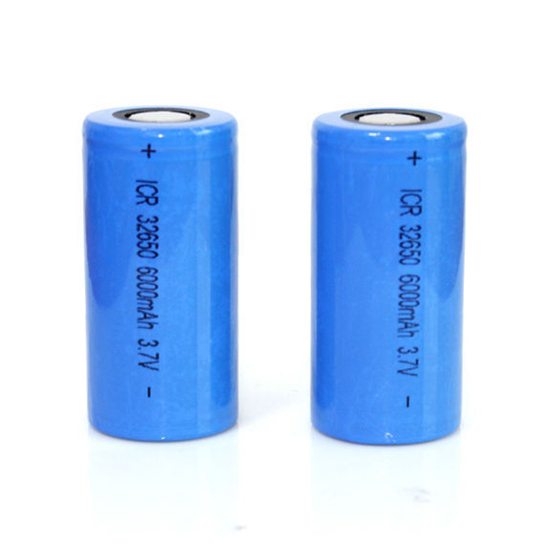 Cylindrical Li-ion battery 32650 3.7V with high capacity 6000mAh, for industrial products