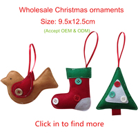Home decor custom China polyester eco friendly wholesale Christmas ornaments