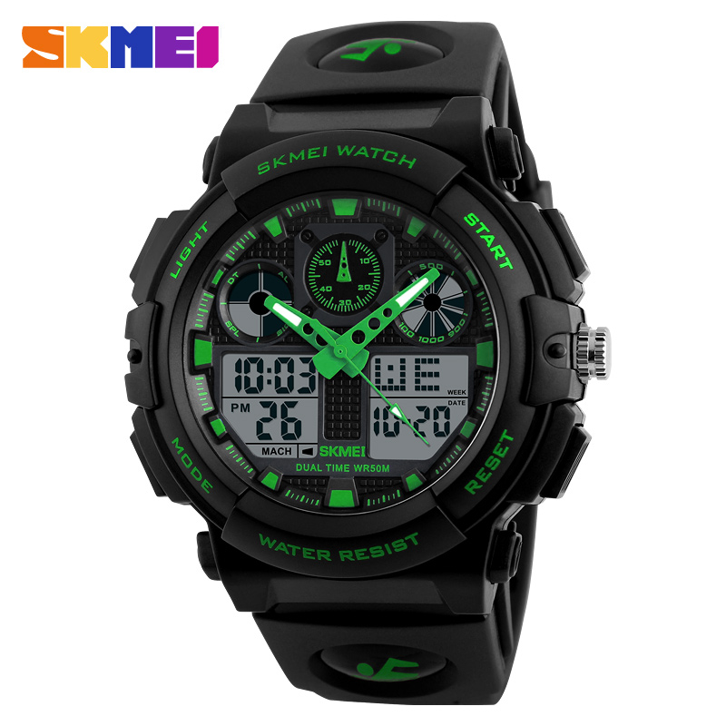 skmei 2017 silicone strap watches men sport top watch brands for men with high quality
