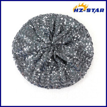 HZM-13397006 PVC sequin beret heat absorbing material imported of bling hat