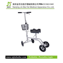 folding aluminum walker with knee support