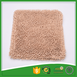 Plain color long chenille sofa seat cushion covers