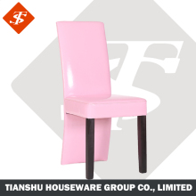 Home use wood frame pine wood legs chair dining furniture with PU cover