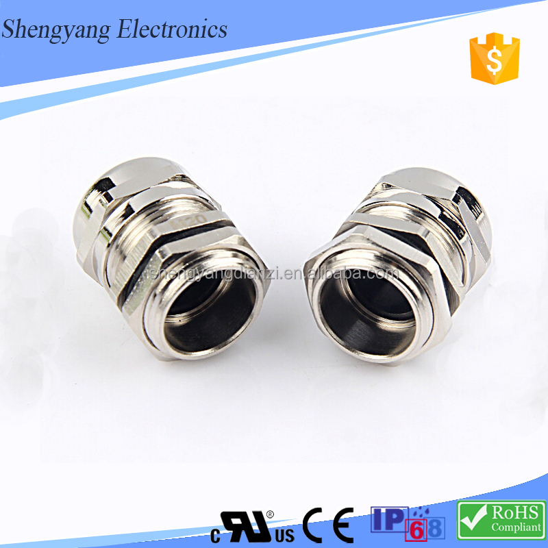 SY High Quality Silicon Rubber PG Type Nickel Plated Brass Cable Glands