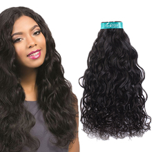Makeup miss rola 100% human colombian virgin hair water wave hair extensions