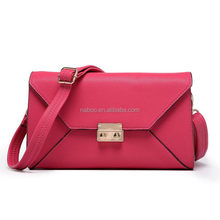 Stylish envelope clutch leather bags/envelope women bag/own band wrist lady envelope clutch bag