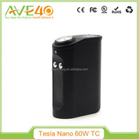 Health e-cigarette mods 2016 Tesla Nano 60W tc box mod e-cigarette fast delivery tesla nano 60w box mod in stock