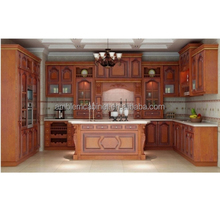Popular Wholesale Antique Solid Wood Oak Pantry Kitchen Cupboard,Antique Pantry Kitchen Cabinets