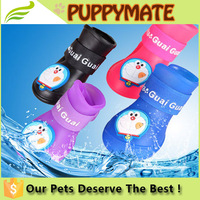 China supply 4 colours waterproof dog rain boots for sale