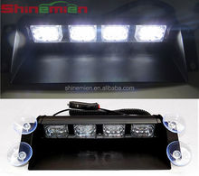 Led Warning Emergency Windshield Super Bright Strobe Dash Flash Light 12led White