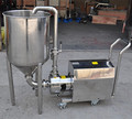 food grade homogenizer pump with funnel
