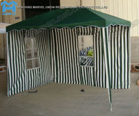 Green striped Polyester Garden Tent Pavilion with windows 2x3m