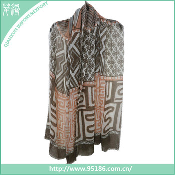 SC-126233 Latest design wholesale vietnam polyester silk scarf in China