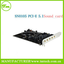 New Model SN0105 PCI-E 5 Channel 5.1 Audio Sound Card for PC windows7 or 8