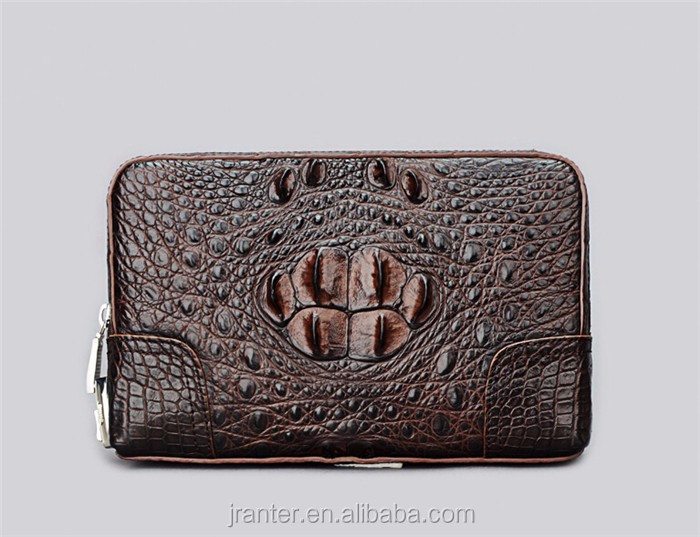 Fashion Luxury Crocodile Clutch Wallet for Men Wholesale Leather Clutch Bag_6