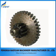 high quality double cylindrical gear with shaft