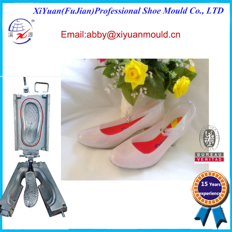 Classic Pvc Jelly Lady Shoe Moulds, shoes moulds Making Pvc Jelly Shoes Sandals, PVC crystal shoes moulds