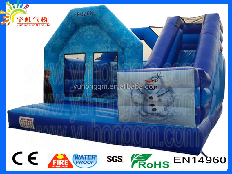 Superlative 2017 new inflatable ice world snowman pvc kids slide castle frozen