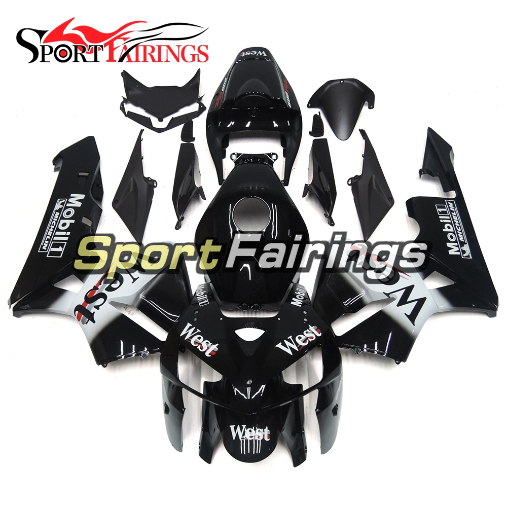 Motorcycle Complete Injection ABS Plastic Black White Fairings For Honda CBR600 CBR600RR F5 05 06 Year 2005 2006 Fairing Kits