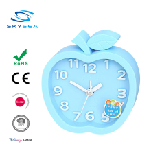 2017 Wholesale Plastic Digital Blue Apple Funny Alarm Table Desk Clock