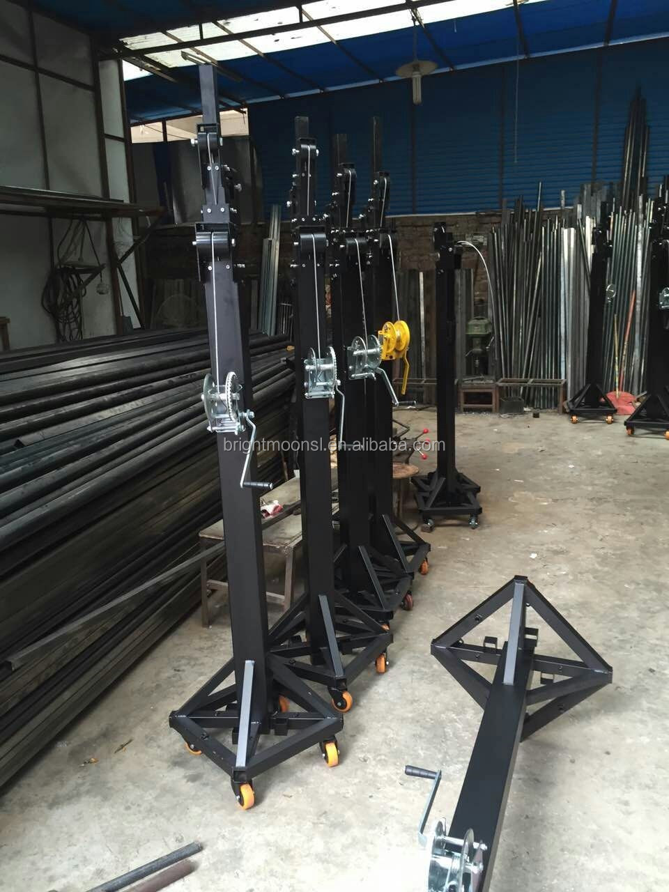 High qaulity heavy duty 250kg dj booth stand 6.5m telescopic truss stand professional tower