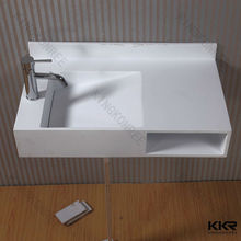 wall hung acrylic resin stone stain resist bathroom wash basin