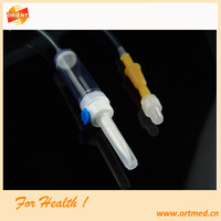 disposable medical infusion set with iv flow regulator