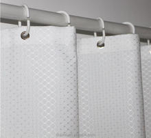 Hot Sale Domestic Good Quality Polyester White Shower Curtain