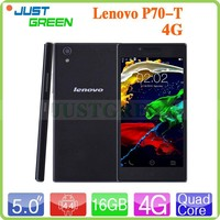 2015 new Lenovo P70-T cell phone MT6732 Quad Core 5 inch Android 4.4 phone RAM 2GB ROM 16GB Dual SIM LTE phone