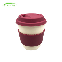 Latest Arrival Wholesale Biodegradable Eco Plant Bamboo Cup With Silicone Lid