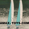 es-118HA 2.4G rc yacht 4CH Hawaii 1000 F5-E Level Remote Control Racing Yacht